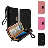 Samsung Galaxy S7 Edge Wallet Case Bag - Oenbopo Multi-Segment New PU Leather Zipper Clutch Coin Card Wallet Phone...