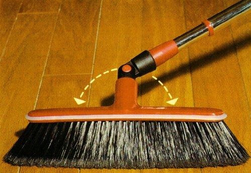 Broom, Swivel, Rotating Head, Aluminum Telescopic Handle, Italian