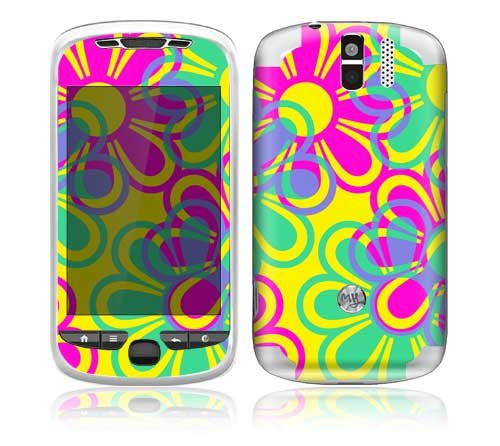 Retro Flowers Design Decorative Skin Decal Sticker for HTC myTouch 3G Slide Cell Phone