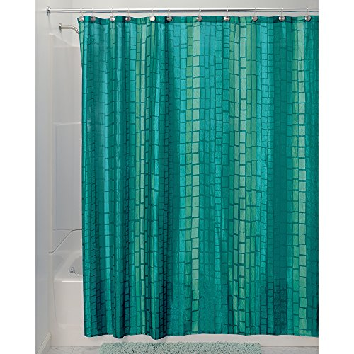 Interdesign moxi fabric shower curtain 72 x 72 aquamarine blue - Rideaux bleu turquoise ...
