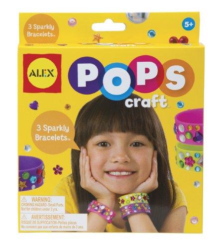 ALEX Toys POPS Craft 3 Sparkly Bracelets