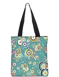 Snoogg Abstract Circles Digitally Printed Utility Tote Bag Handbag Made Of Poly Canvas