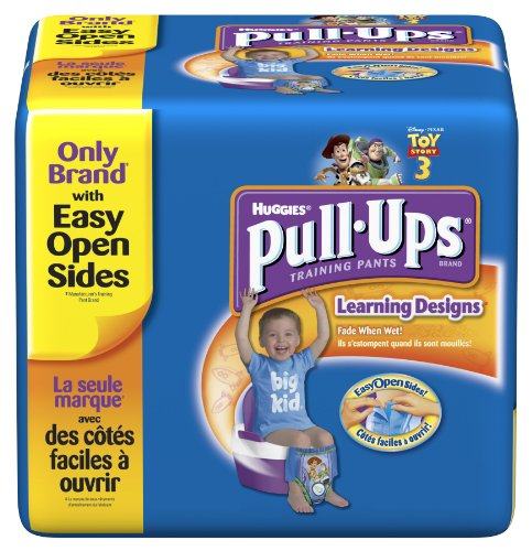 Hies Pull-Ups Training Pants with Learning Designs, Boys, 3T-4T, 52 Count