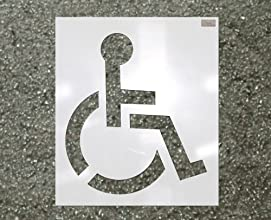 39quot HANDICAP Stencil 116quot Plastic made by CH Hanson for use in Parking lot and roadway paintin