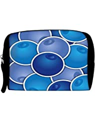 Snoogg Blueberry Background Card In Vector Format Travel Buddy Toiletry Bag / Bag Organizer / Vanity Pouch