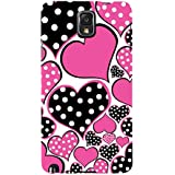 Black And Pink Hearts Hard Polycarbonate Designer Back Case Cover For Samsung Galaxy Note 3 :: Samsung Galaxy...