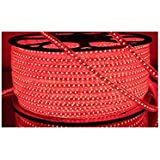 Water Proof 20 METER LED (STRIP LLIGHT,COVE LIGHT) Rope Light Color: RED With Adapter