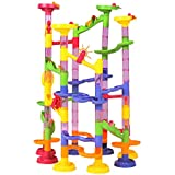 Happytime Marble Run Coaster 105 Piece Set With 75 Building Blocks Plus 30 Race Marbles. Learning Railway Construction...