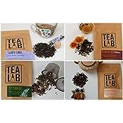 Tea Lab | Classic Loose Leaf Tea Assortment (140 Gms) | Assam Masala , Kashmiri Kahwa , Earl Grey , Peppermint...