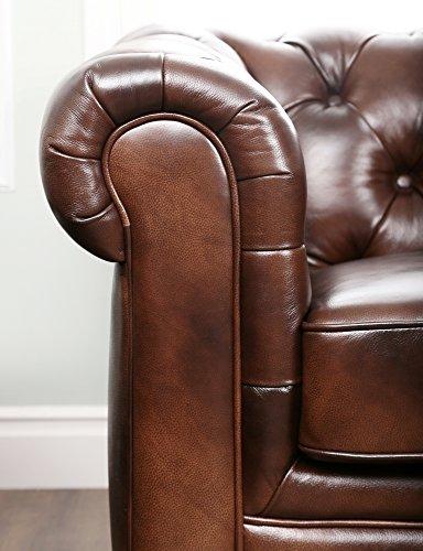 Abbyson Living Foyer Premium Italian Leather Sofa 3