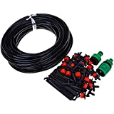 New 25M DIY Automatic Micro Drip Irrigation System Plant Watering Garden Kits With Adjustable Dripper
