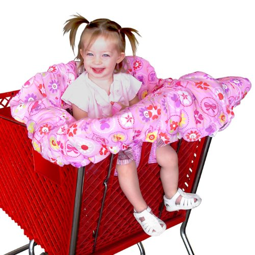 Floppy Seat® Shopping Cart and High Chair Cover, EZ Carry BagTM Style -Pink Floral