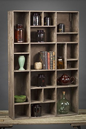 Vagabond Vintage, Wall Cubby in Recycled Pine with 20 Compartments 1