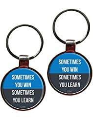 Sometimes You Win Sometimes You Learn Inspiring Metal Key Chain Set Of 2