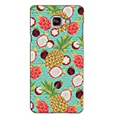 PrintVisa Designer Back Case Cover For Samsung Galaxy On Max (Multiple Pineapple Pattern)