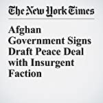 Afghan Government Signs Draft Peace Deal with Insurgent Faction | Rod Nordland