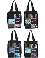 Justcraft Nova Combo Set Of 4 Multicolor Small Lunch Bags