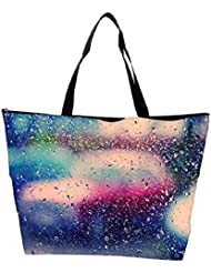 Snoogg Colorful Water Drops Designer Waterproof Bag Made Of High Strength Nylon