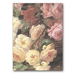 "Basket of Roses - 5"" x 7"" Birthday Greeting Card"