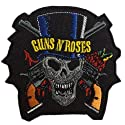 Guns N Roses Logo Rock Iron on Patches Embroidered 3 X 3.25 Inches 1 Peice Per Order