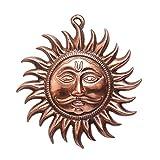 Advitiya Black Metal Brass Vastu Sun Mask Wall Hanging (20X0.5X17 CM,Copper)