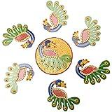Poojan Handicrafts Wooden Rangoli (24 Cm X 2 Cm X 24 Cm)