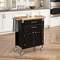 Home Styles Dolly Madison Prep and Serve Cart (Black) + $111.19 Kmart Credit