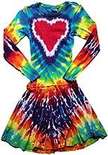Groovy Blueberry Girl39s Rainbow Heart Long Sleeve Ballerina Dress