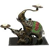 Elephants Tea Light Holder ( Set Of 2)