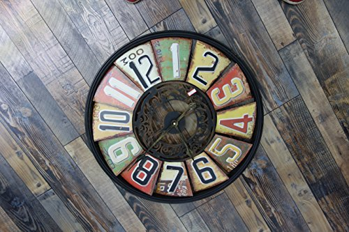 x large decorative metal wall clock 24 inch shabby chic excellent antique look