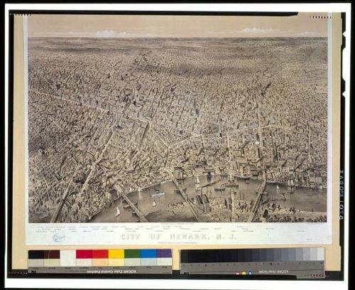 Photo Reprint City of Newark, N.J. 1874