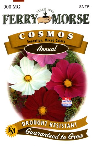 Ferry-Morse Annual Flower Seeds 1039 Cosmos - Sensation Mixed Colors 900 Milligram Packet