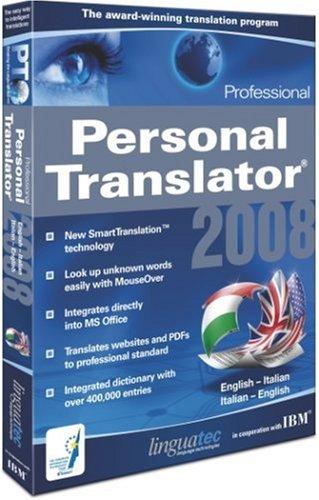 Personal Translator 2008 Professional English - Italian