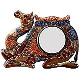 Ghanshyam Art Wood Camel Wall Mirror (60.96 Cm X 4 Cm X 45.72 Cm, GAC069)