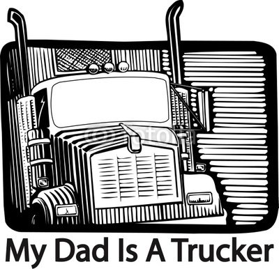 "Wallmonkeys Peel and Stick Wall Decals - Trucker Dad Design - 24""W x 23""H Removable Graphic"