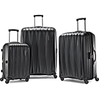 American Tourister 3-Piece Arona Premium Hardside Spinner Luggage Set (Charcoal)