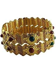 Designer Antique Gold Plated Bangle For Women - B01JVVC02Y