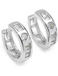 5.20 Grams White Cubic Zircon .925 Sterling Silver Earrings
