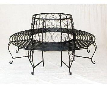 rundbank aus metall bank 120749 baumbank sitzbank gartenbank d 160cm h 84cm dc270. Black Bedroom Furniture Sets. Home Design Ideas