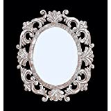 """Decorative Hand Crafted Wooden Wall Mirror By The Kraft International ( 24""""x20"""" )"""