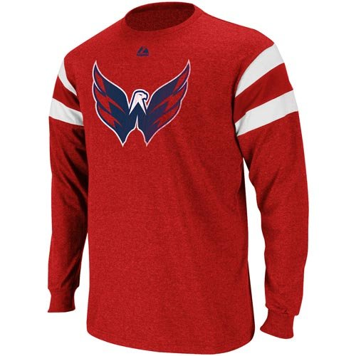 Washington Capitals Red Clear Shot Fashion Long Sleeve T-Shirt