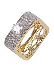 Muchmore Partywear Collection Charming Gold Plated Fashion Ring For Women & Girls