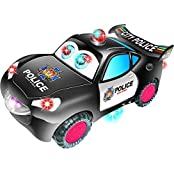 ToyZe® Bump And Go Action, Police Car For Kids, With Moving Eyes, Lights And Real Sounds.