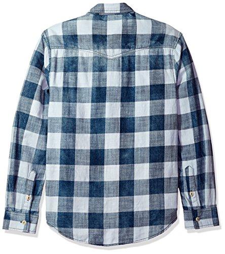 True Grit Men's Rockin Roll Indigos Buffalo Plaid Two-Pocket Vintage Shirt 1