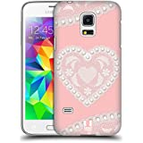 Samsung Galaxy S5 Mini , Heart : Head Case Designs Heart Laces And Pearls 2 Hard Back Case Cover For Samsung Galaxy...