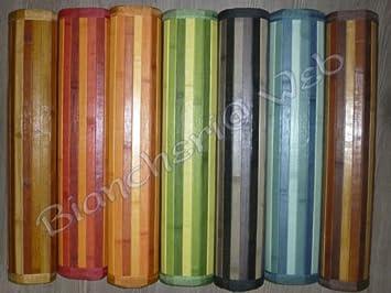 Biancheriaweb tappeto bamboo marrone passatoia cucina - Tappeto cucina bamboo ...