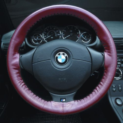 Red - Wheelskins Geninue Leather Steering Wheel Cover - Mazda RX-8 2004 - 2004