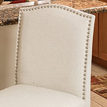 Auburn Ivory Fabric Backed Barstool (Set of 2)