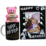 Birthday Gift Combo - Soft Teddy, Birthday Photo Frame & Coffee Mug