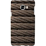 For Samsung Galaxy C5 Brown Rope ( Brown Rope, Rope, Rope Pattern ) Printed Designer Back Case Cover By FashionCops